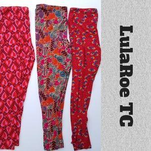 LuLaRoe Lot of 3 Tall & Curvy Leggings TC